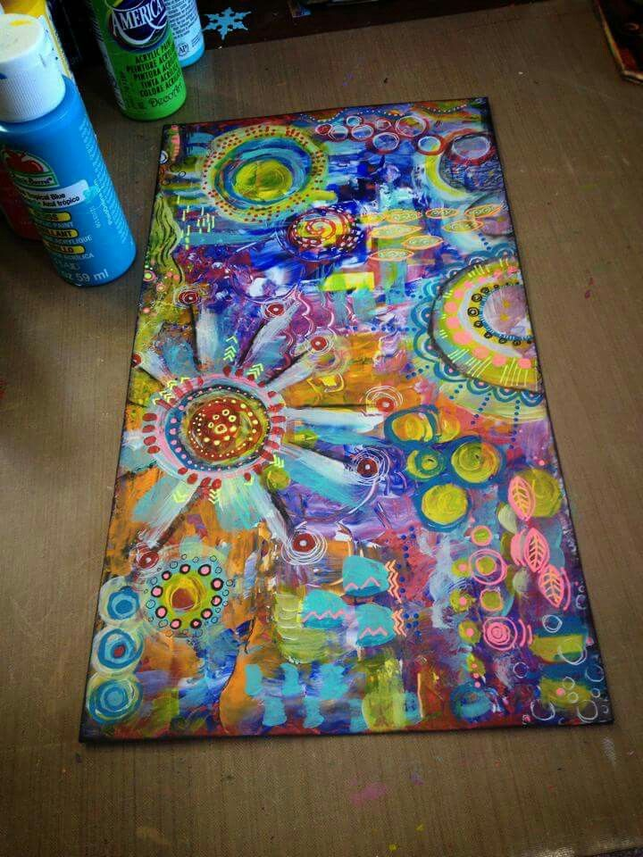 Diane's Mixed Media Art - base is junk mail. - Decorated Envelope