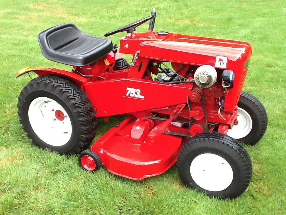 1963 wheel horse model 753 garden tractor riding mower refurbished rh pinterest com 1986 Wheel Horse Garden Tractor Wheel Horse 400 Series