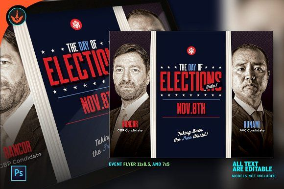 Election Flyer Template  by SeraphimChris on @creativemarket