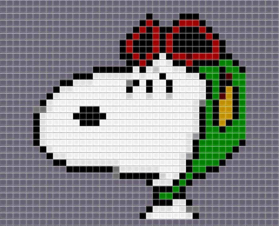 Tiled Snoopy by drsparc on DeviantArt | Punto de cruz Snoopy ...