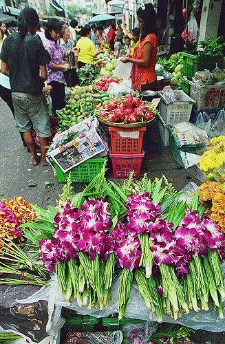 Thailand Market Scene Thailand Travel Thailand Flower Market