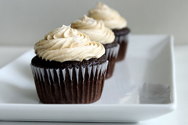 chocolate {salted caramel} cupcakes