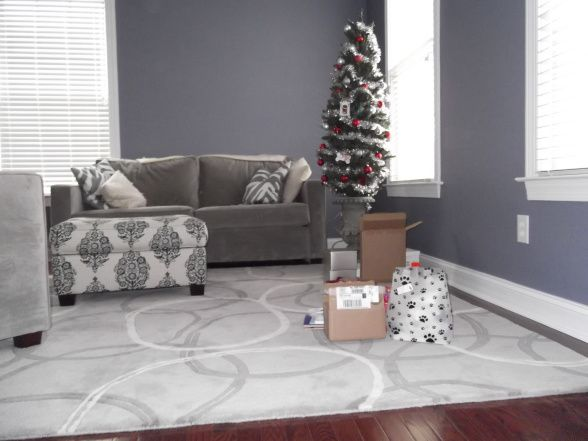Love the wall color af 580 luxe from benjamin moore aura - What finish of paint for living room ...