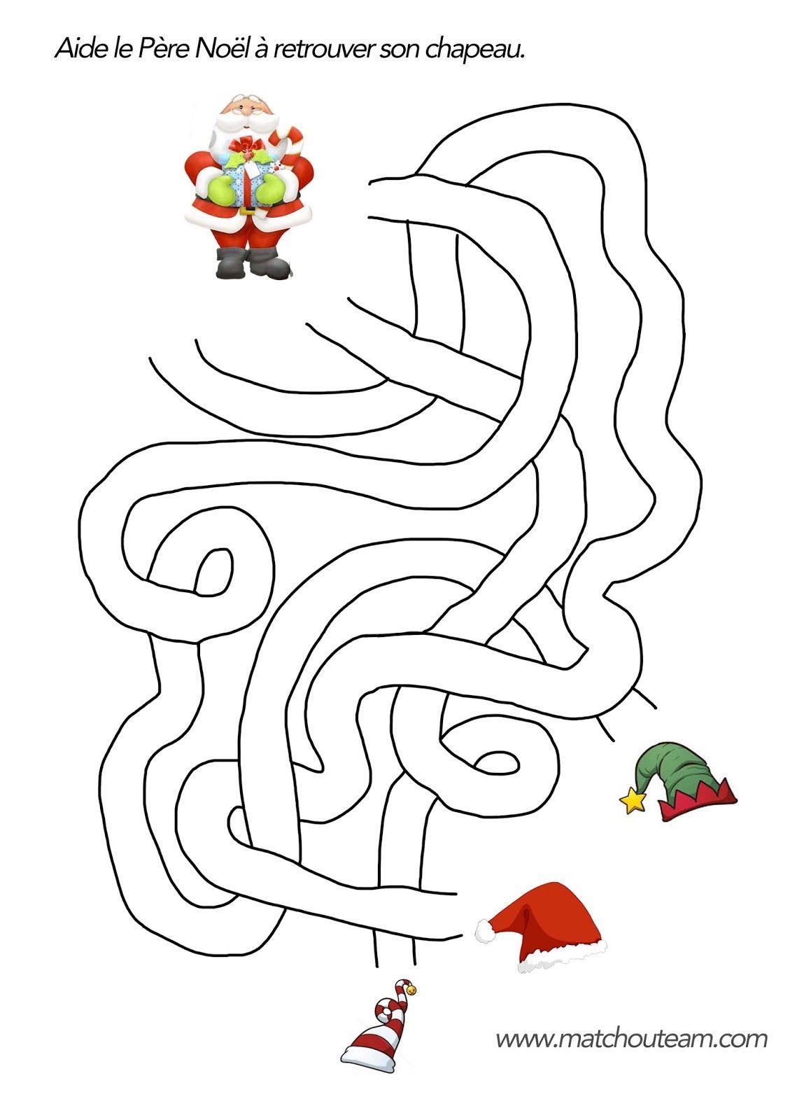 Coloriages et jeux pour Noël | Jeux noel, Coloriage noel