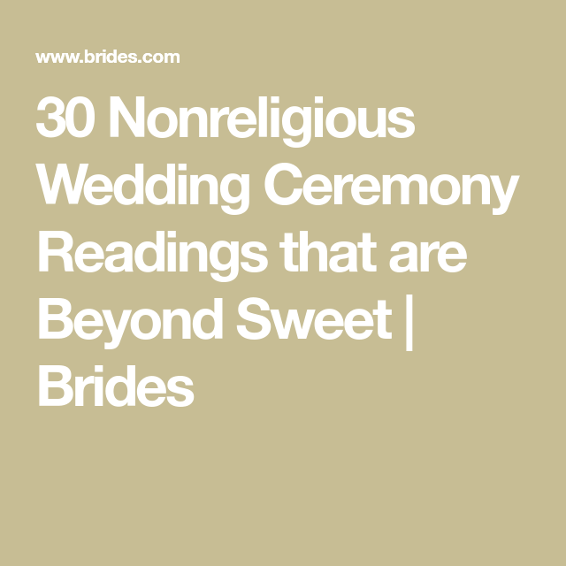30 Nonreligious Wedding Ceremony Readings That Are Beyond