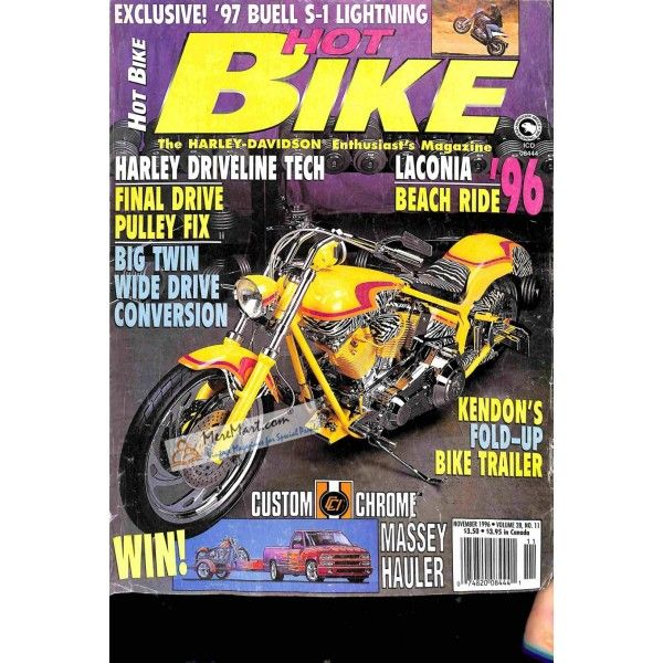 Hot Bike November 1996 Bike Magazine Hot Bikes Cover