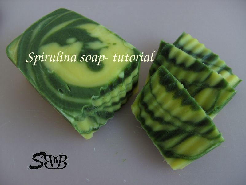 Recipe and tutorial for spirulina soap. I might have to try this ...