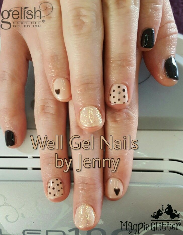 Gelish nail art well gel nails by jenny pinterest gelish nails gelish nail art prinsesfo Images