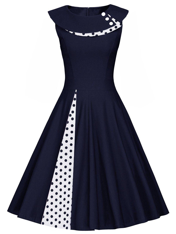 Sleeveless Polka Dot Pleated A Line Dress Elbise Yapimi Elbiseler Ve Elbise Modelleri