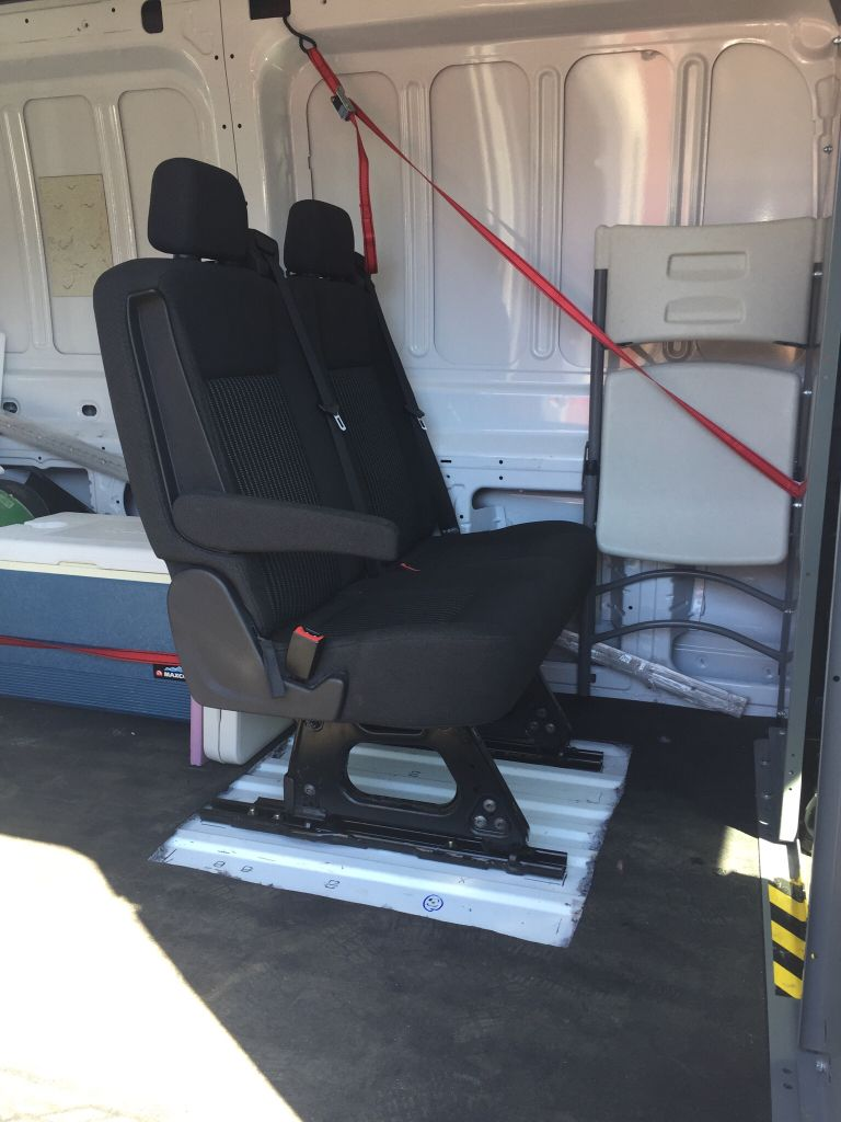 Transit 250 Medium Roof Rear Two Bench Seat Install Ford