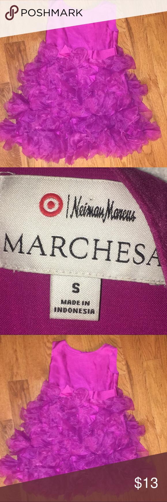 Neiman Marcus SZ S small fancy dress Neiman Marcus Marchesa purple ...