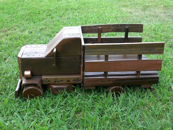 Truck  Upcycled wood truck  Reclaimed wood by ReclaimedRedwood, $100.00 #wood #truck #kids #upcycling #recycle #wooden #toy