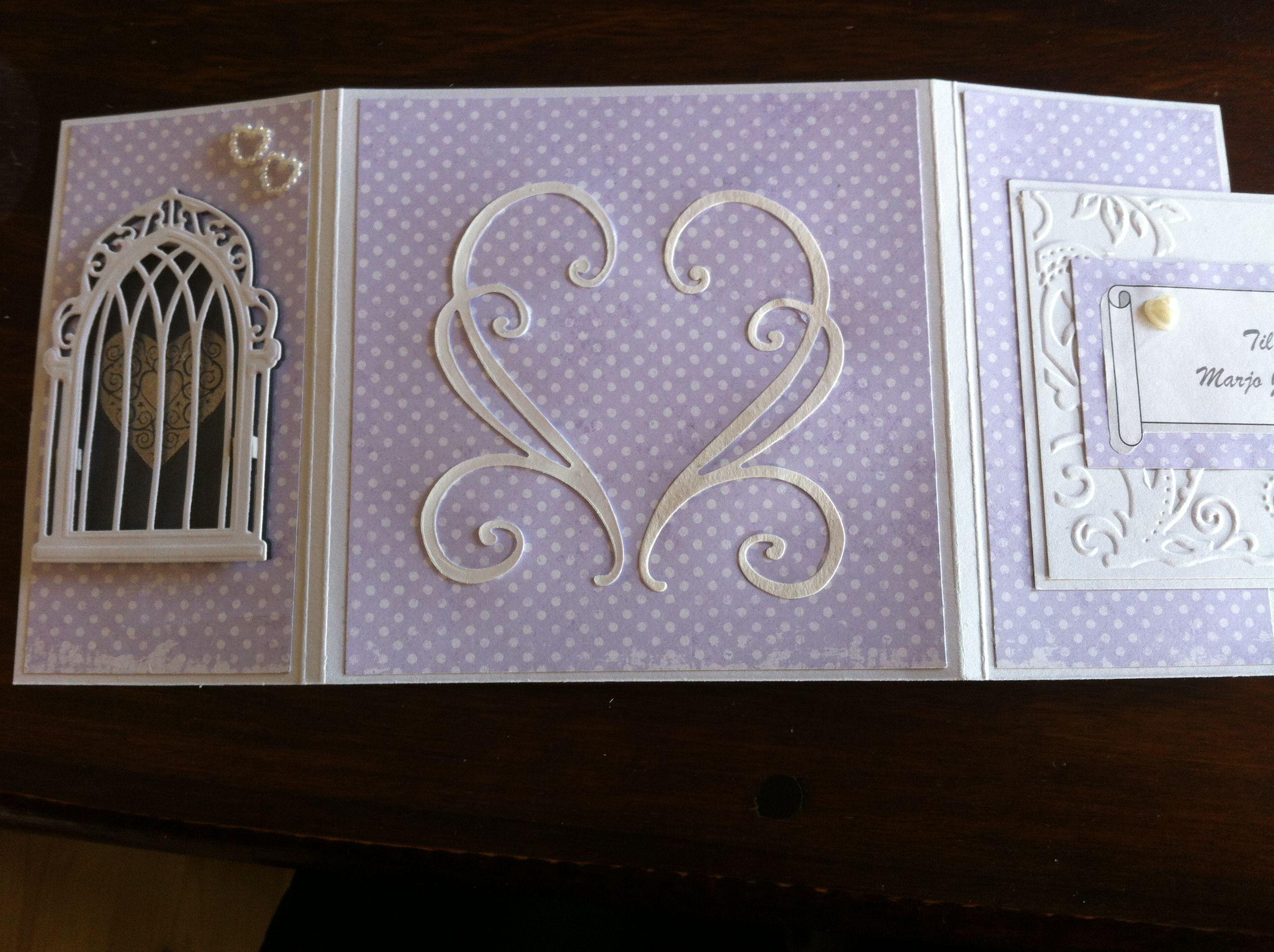 Bryllupskort molde bakside