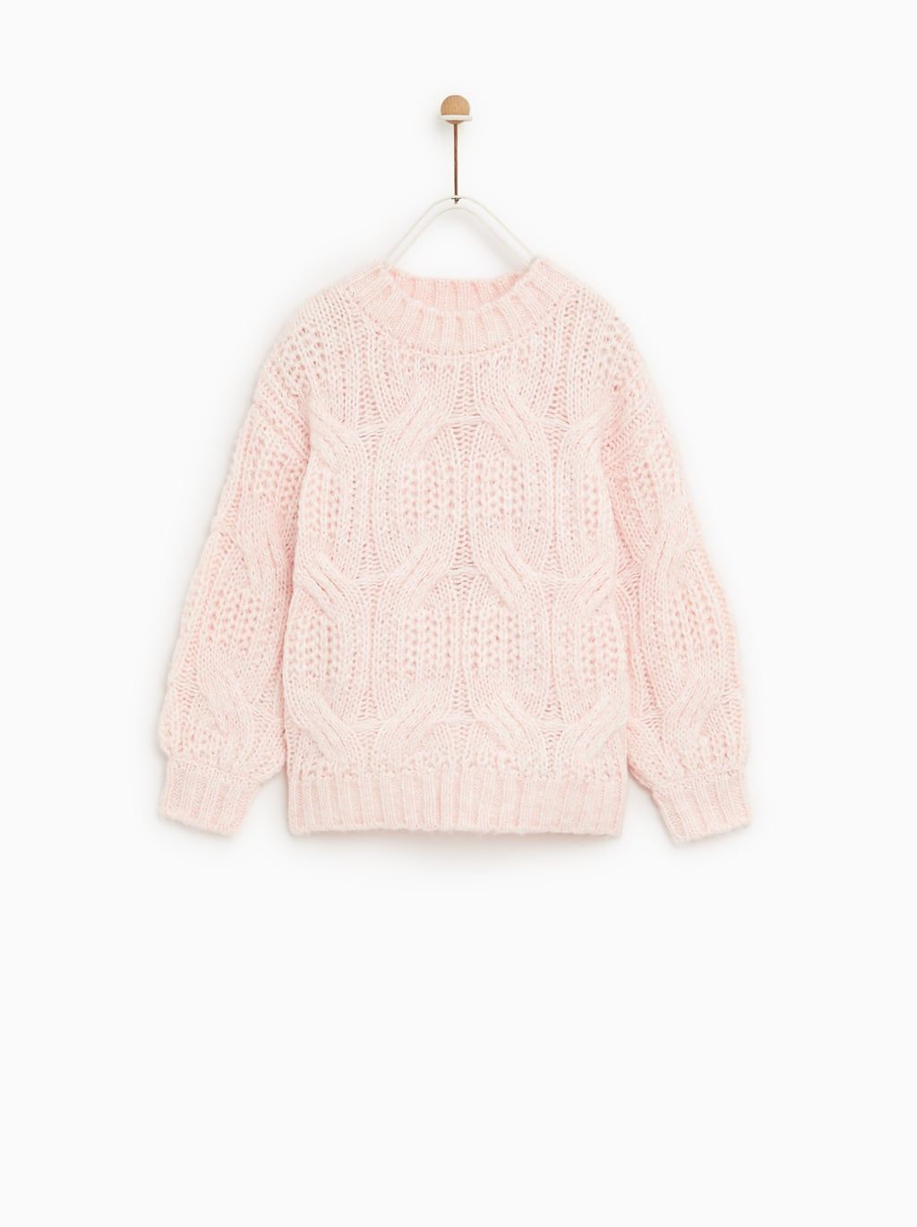 3966a9717a6e Image 1 of OPEN CABLE KNIT SWEATER from Zara