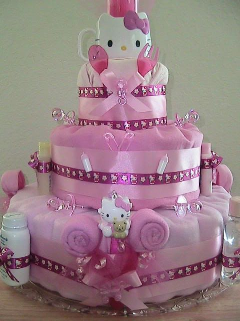 f6f8dad14ef3 Hello Kitty Diaper Cake  3 If I have a babygirl