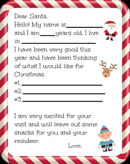 Free Printable Santa Letter Christmas lettering, Free