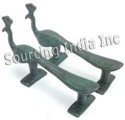 Brass Peacock Pull Door Handle Knob Set