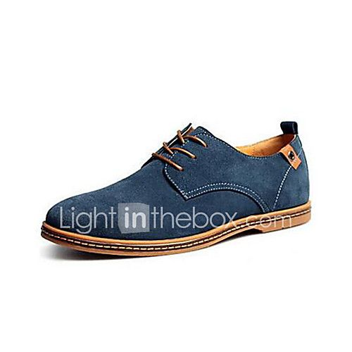 Shoes Men's Shoes Suede Spring Summer Fall Winter Comfort Lace-up For Casual
