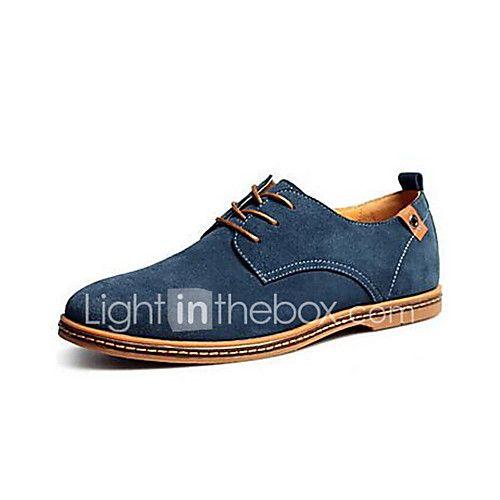 €23 Hombre 2017 Verano Confort Azul Caqui Otoño Para Verde Cordón Marino 44 Marrón Invierno Casual Oxfords Con Negro Zapatos Ante Primavera hrxCtsQd
