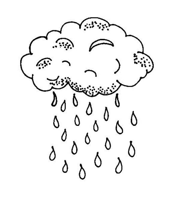 Raindrop Falls From Black Cloud Coloring Page Color Luna Coloring Pages For Kids Minion Coloring Pages Kitty Coloring