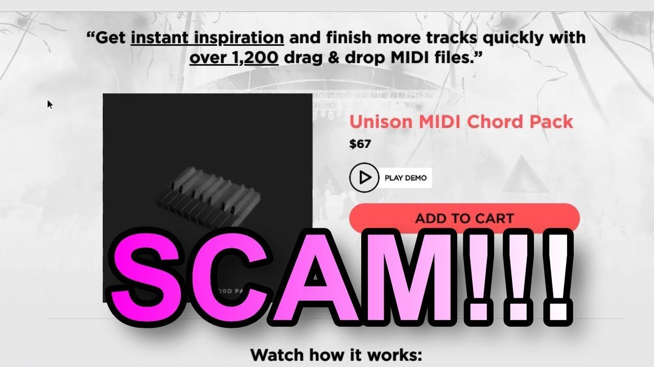 THE UNISON CHORD MIDI PACK IS A SCAM!! | Musc beats | Beats