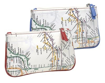 Nyc Subway Map Zippered Wallet.These Nyc Subway Map Pencil Cases Are Perfect For Kids School