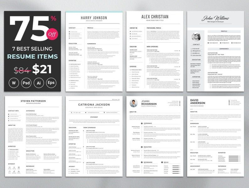 Professional Resume Template Modern And Creative Resume Etsy In 2020 Resume Template Professional Creative Resume Templates Resume Cover Letter Template