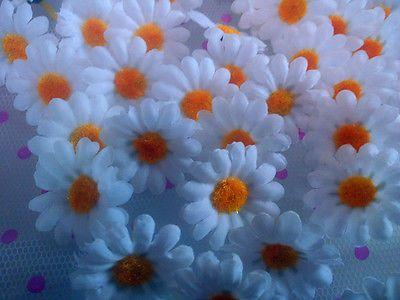 100X Artificial Gerbera Daisy Wedding Petals Flowers Silk Heads Party Home Decor