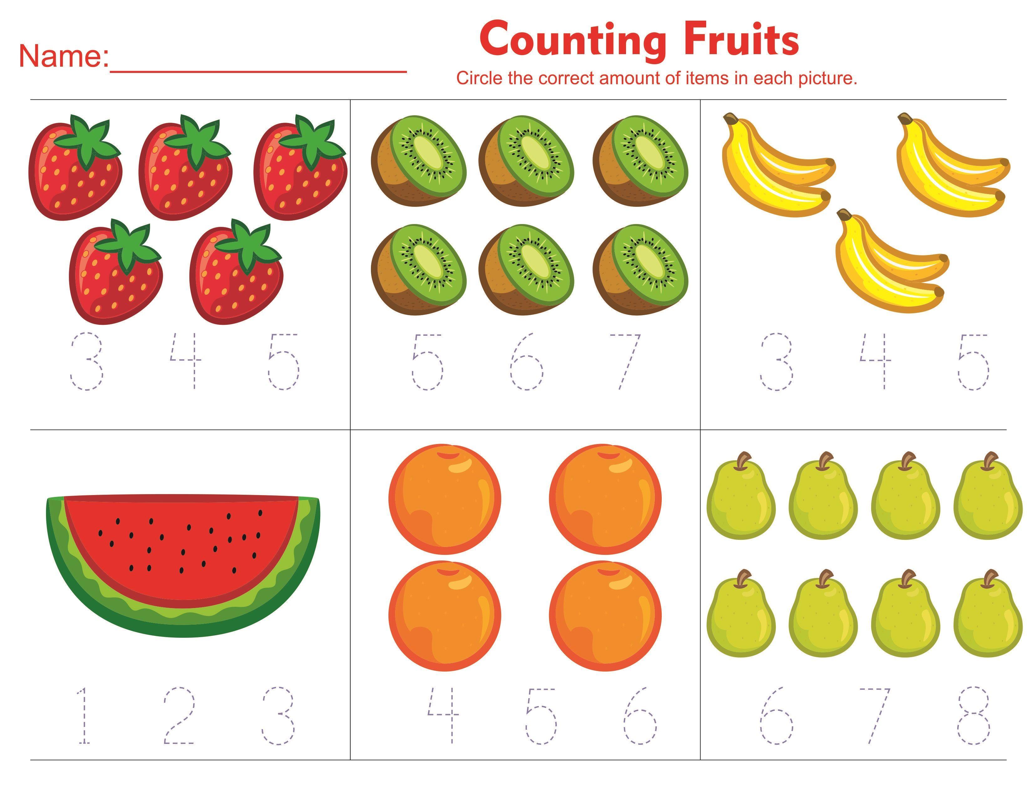 Toddler Counting Fruits Activity Worksheets Free 2019 Educative Printable Free Preschool Worksheets Preschool Math Worksheets Tracing Worksheets Preschool [ 2550 x 3300 Pixel ]