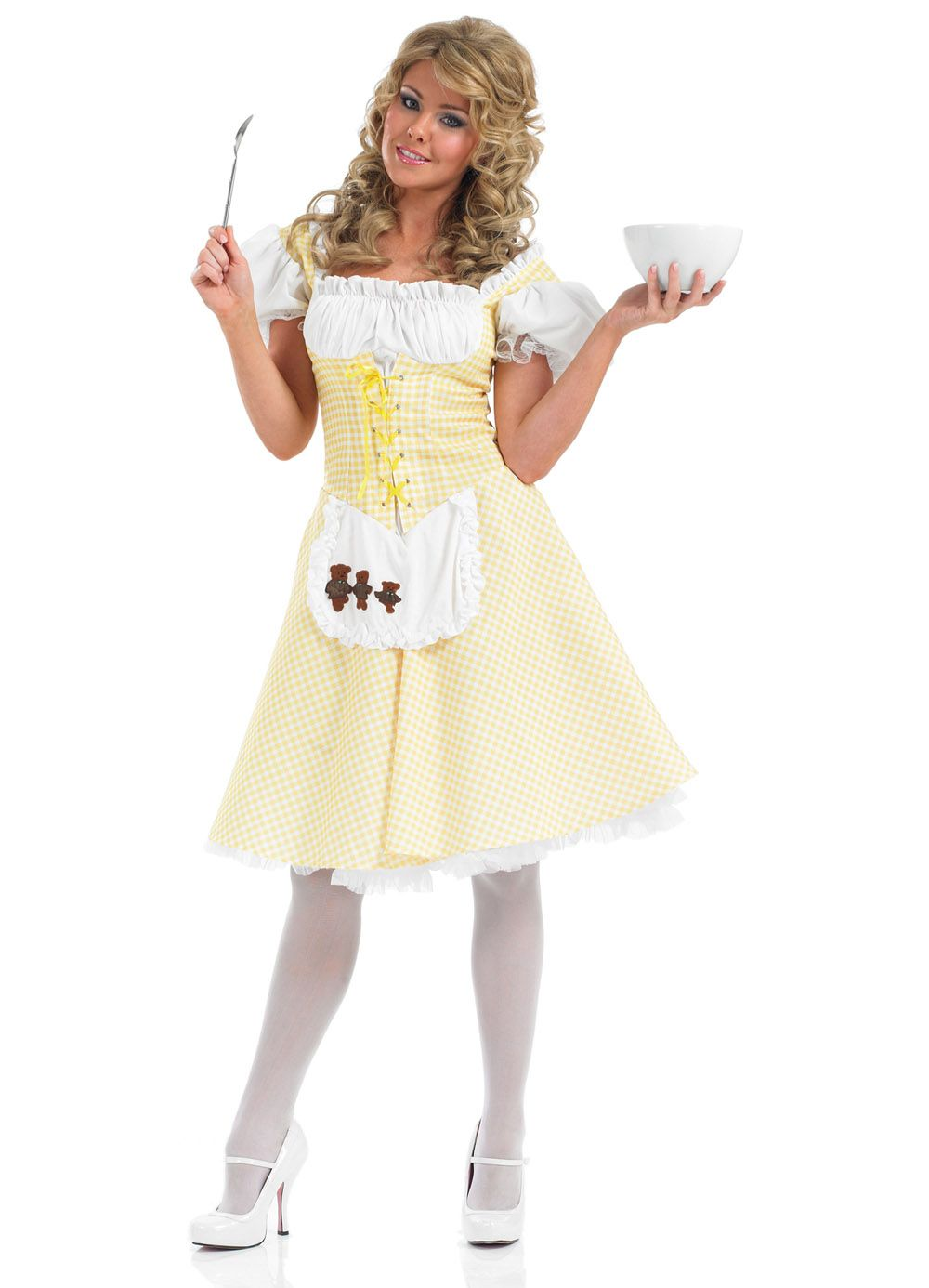 Longer Length Goldilocks Costume Adult - Party Britain Fancy Dress ...