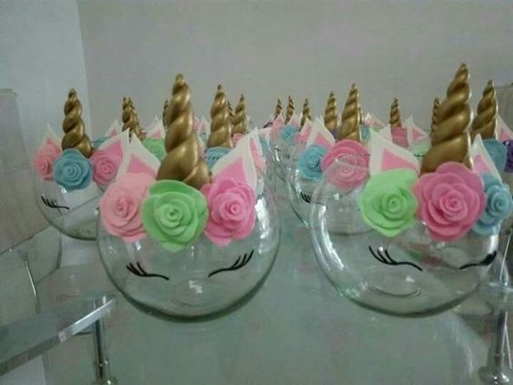Fiestas infantiles de unicornio fiesta de unicornio - Como hacer adornos para fiestas ...