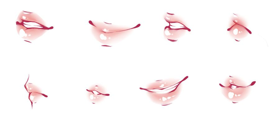 Lips Refs By Rika Dono On Deviantart Anime Lips Lips Drawing Eye Drawing
