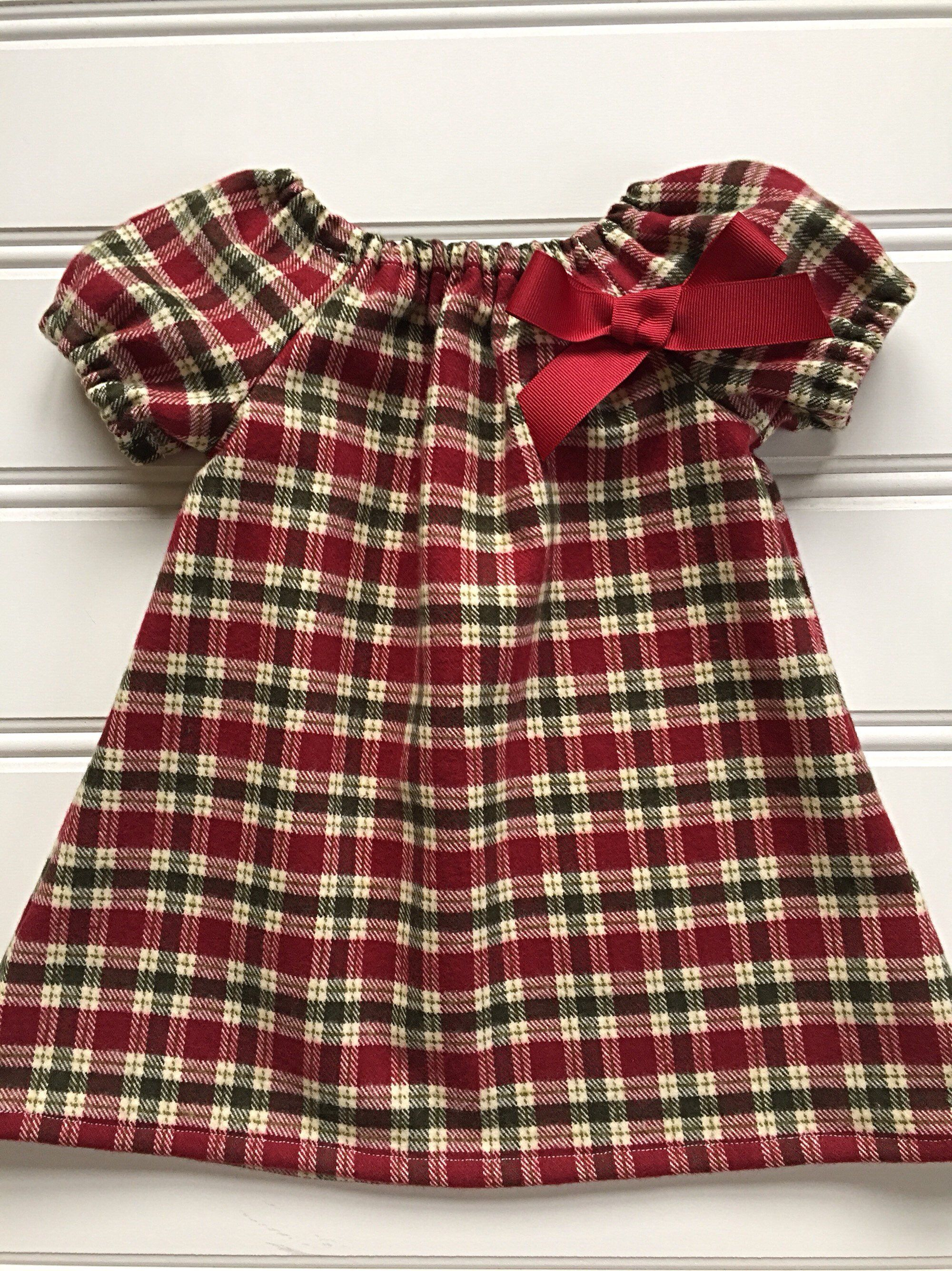 ad44479f14c4 Excited to share this item from my #etsy shop: Christmas Dress for Girl,  Toddler Christmas Dress, Baby Girl Christmas Dress, Plaid Dress, Flannel  Dress, ...