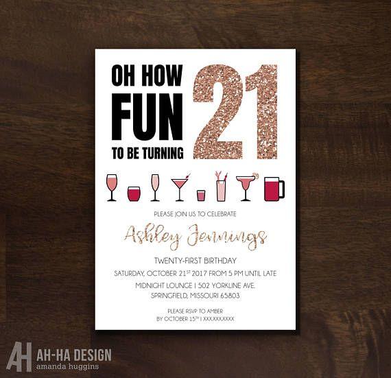St Birthday Party Invitation Httpswwwetsycomlisting - 21st birthday invitations ideas templates