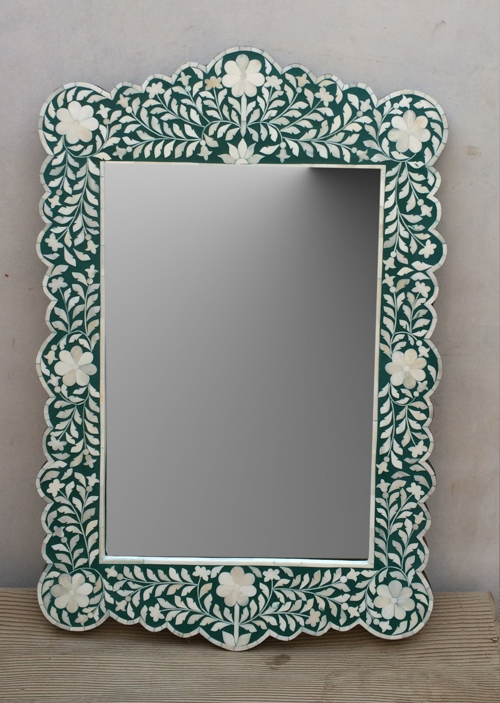 Handmade Bone Inlay Wooden Modern Floral Pattern Mirror Frame Etsy In 2020 Bone Inlay Mirror Hand Painted Mirrors Bone Inlay