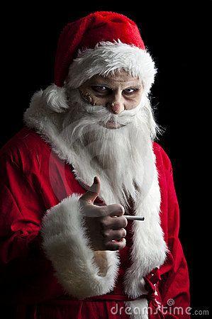 Scary Santa Scary Dark Christmas Santa