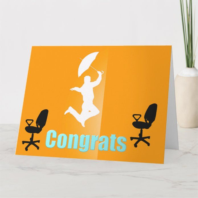 congrats on your new job big greeting card  zazzle