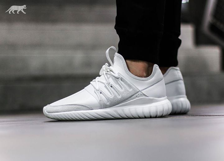 Stockist info for the Adidas Tubular Radial Crystal White http://ift.tt