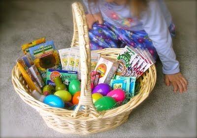Healthy easter egg basket fillers