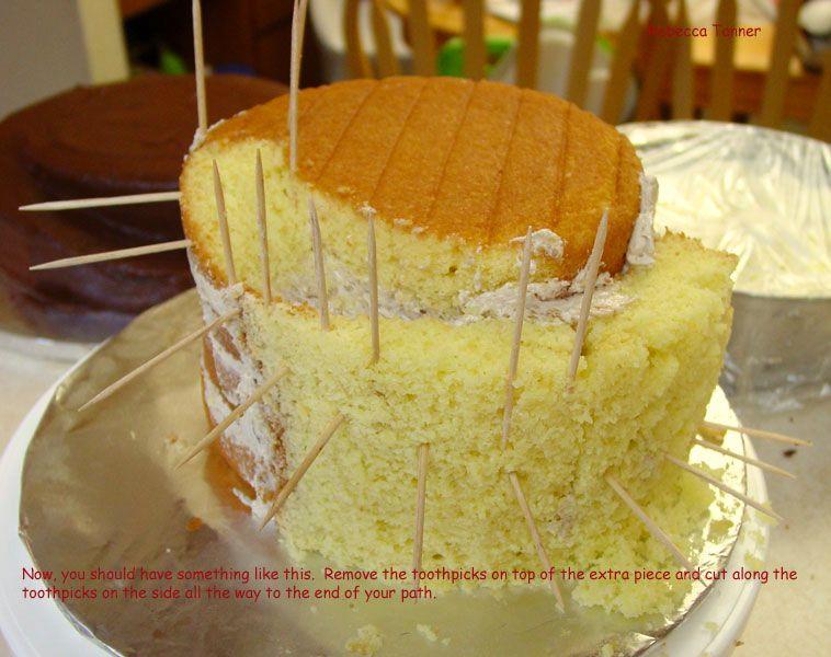 Spiral Carved Cake Tutorial