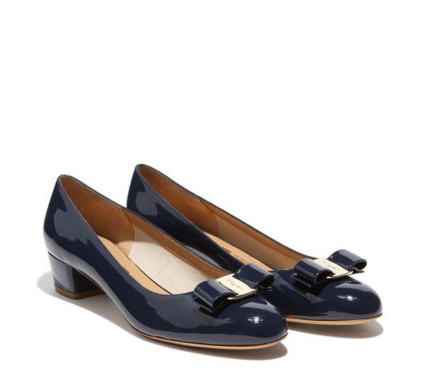 dcef45cfcf8 Salvatore Ferragamo - Vara (Oxford Blue in patent) Model code 01B221 539449  Heel 3 cm