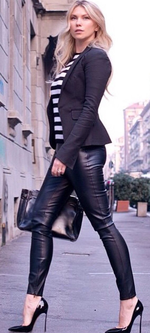 I need some Leather pants in my life....