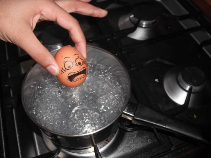 Funny Egg Drawing