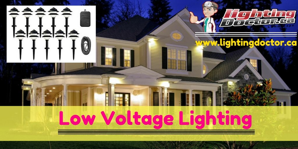 Installing Low voltage lighting is safe and relatively