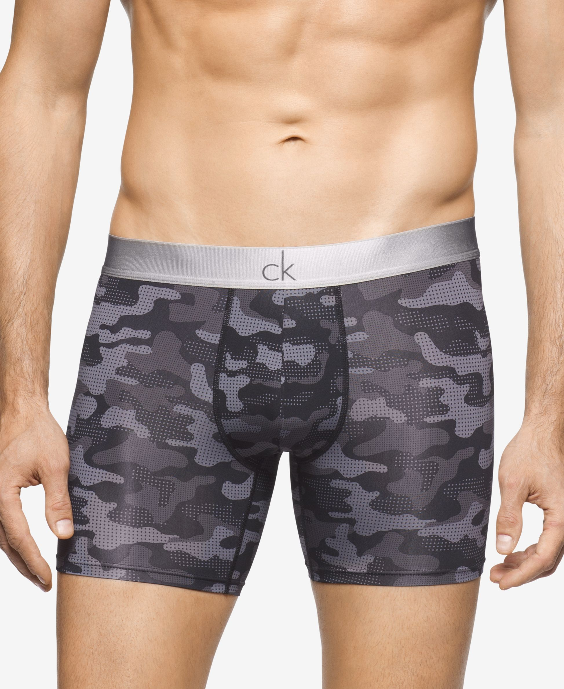 f2f480fac5ba Calvin Klein takes camouflage to the next level with the sleek look of  these printed boxer briefs. | Nylon/elastane | Machine washable | Imported  | Contrast ...