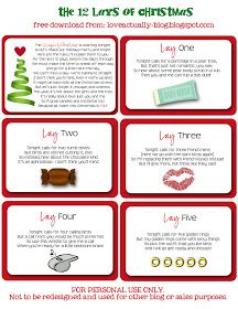 12 days of christmas ideas for husband