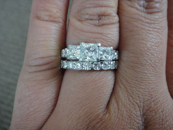 Show Me Your 3 Stone Rings With Carats Of Stones Weddingbee Page