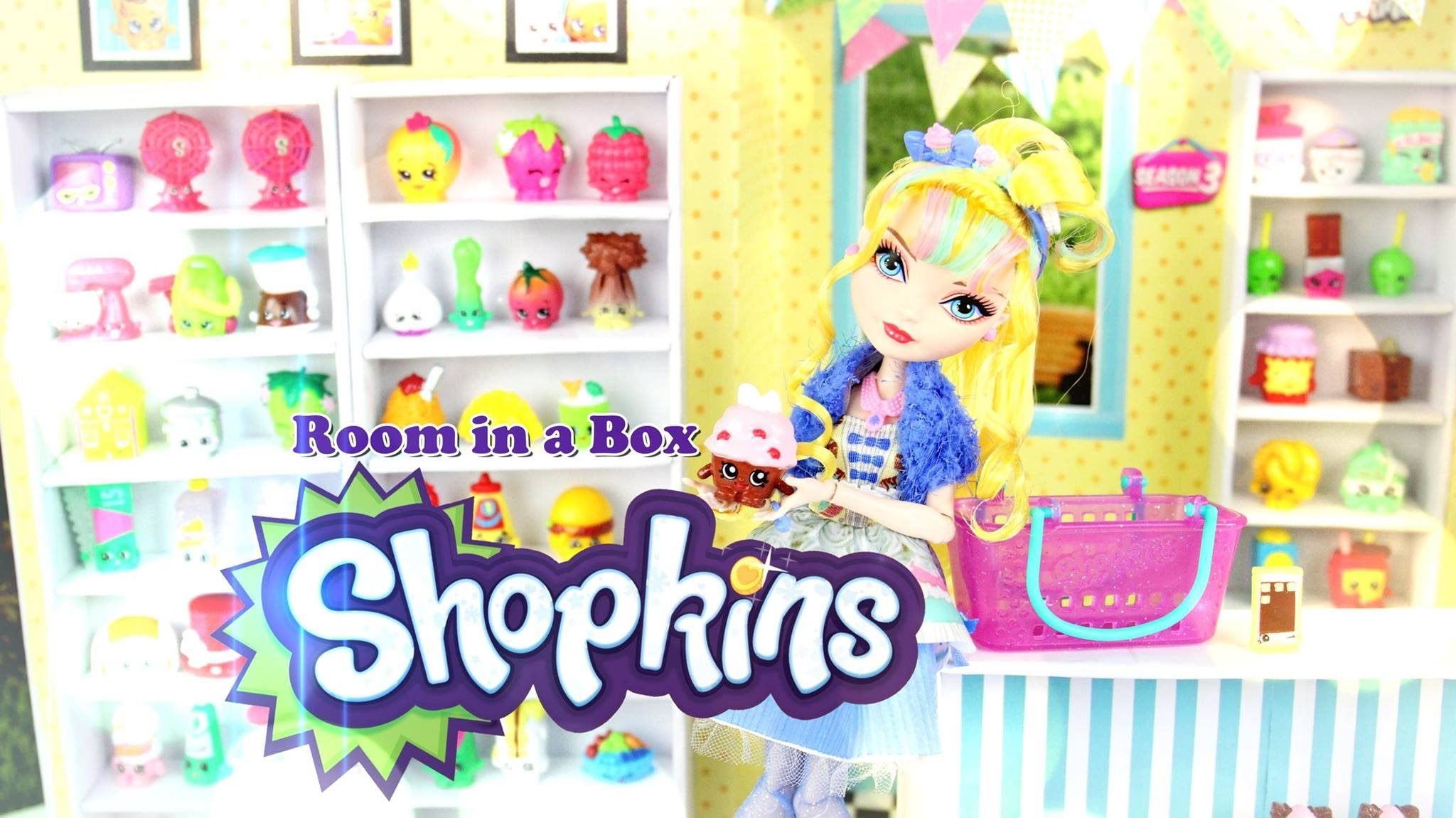 Barbie Bedroom In A Box: How To Make: Doll Room In A Box: Shopkins