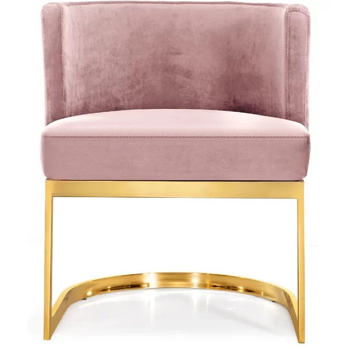 Hobson Upholstered Wingback Arm Chair With Images Pink Dining