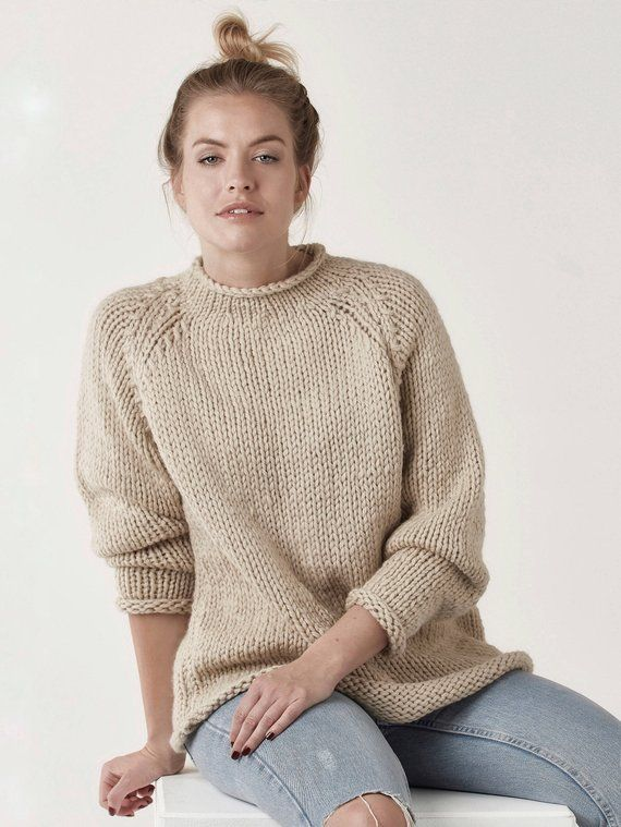 ca0a7246d5adbd 17 colors! Chunky knit sweater